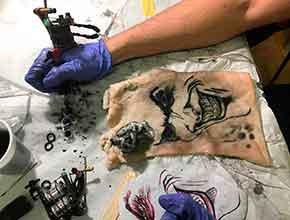 Curso Tatuador: Prácticas tatuaje Dic 2016