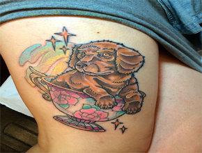 Tatuaje para mujeres perro