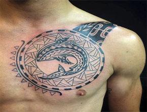 Tatuajes tribales ballena