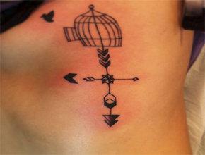Tatuaje pequeño veleta