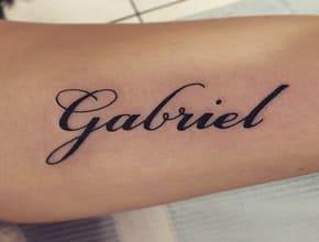 Tatuajes de nombres Gabriel
